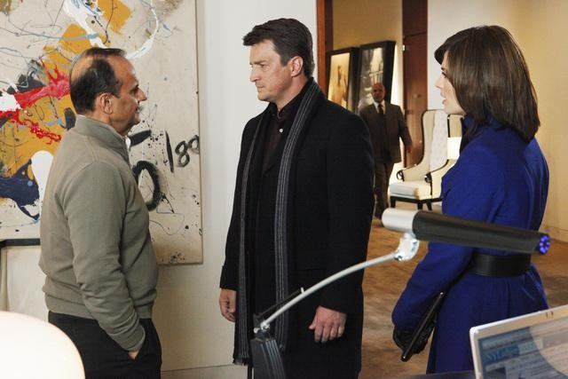 Castle: Stana Katic e Nathan Fillion in una scena dell'episodio Suicide Squeeze