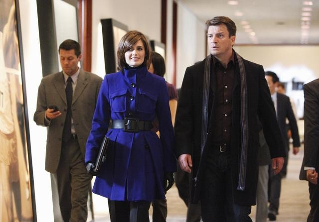 Castle: Stana Katic e Nathan Fillion nell'episodio Suicide Squeeze