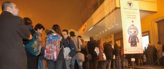 Il pubblico del Future Film Festival, Bologna.