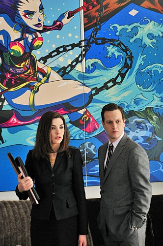 Julianna Margulies e Josh Charles nell'episodio Bad di The Good Wife