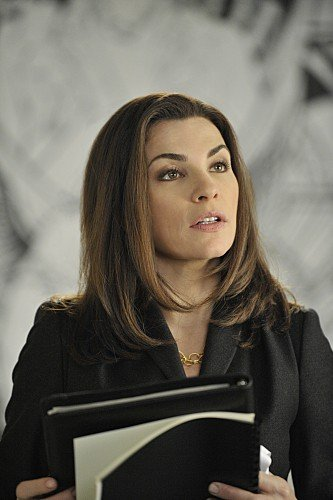 Julianna Margulies in una scena dell'episodio Bad di The Good Wife
