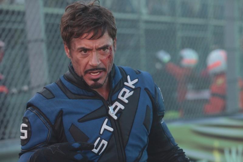 Robert Downey Jr nei panni di Tony Stark in iron Man 2