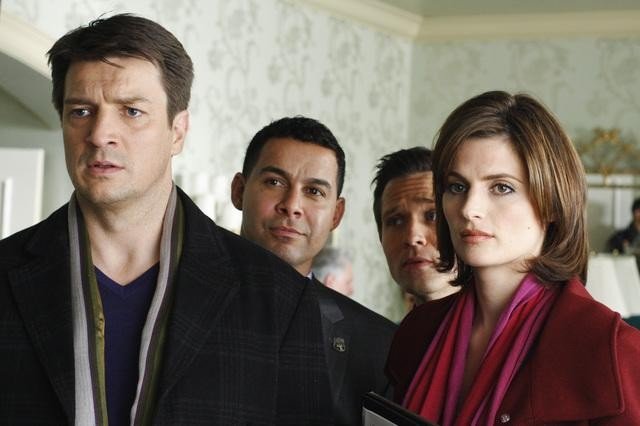 Stana Katic e Nathan Fillion nell'episodio A Rose for Everafter di Castle
