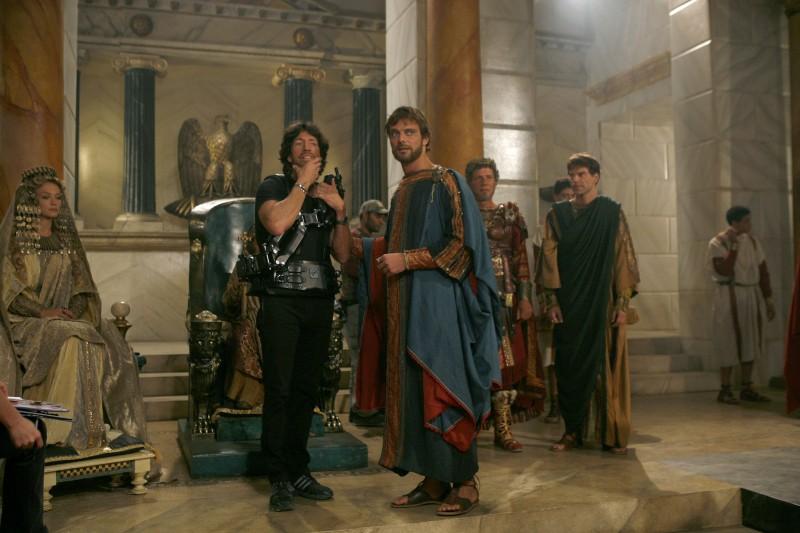 Il regista Christian Duguay e Alessandro Preziosi sul set del film TV su Sant'Agostino