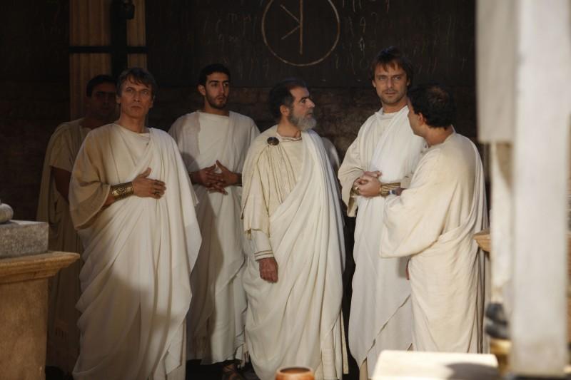 Una scena della fiction Sant'Agostino