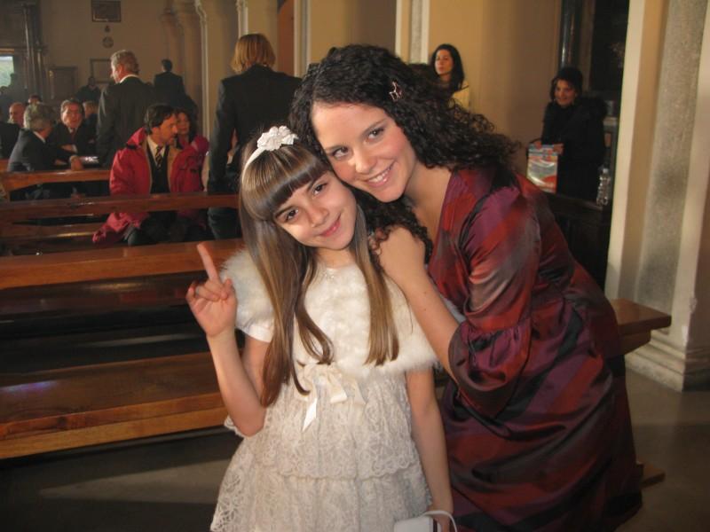 Angelica Cinquantini e Giulia Luzi sul set de I Cesaroni 3