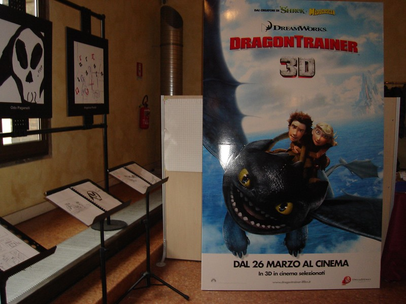 Il poster di Dragon Trainer, in anteprima al Future Film Festival 2010