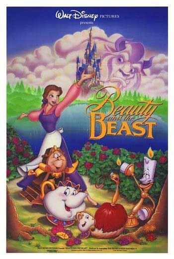 Poster del film d\'animazione La bella e la bestia (The Beauty and The Beast, 1991)