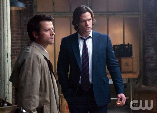 Supernatural: Jared Padalecki e Misha Collins nell'episodio My Bloody Valentine