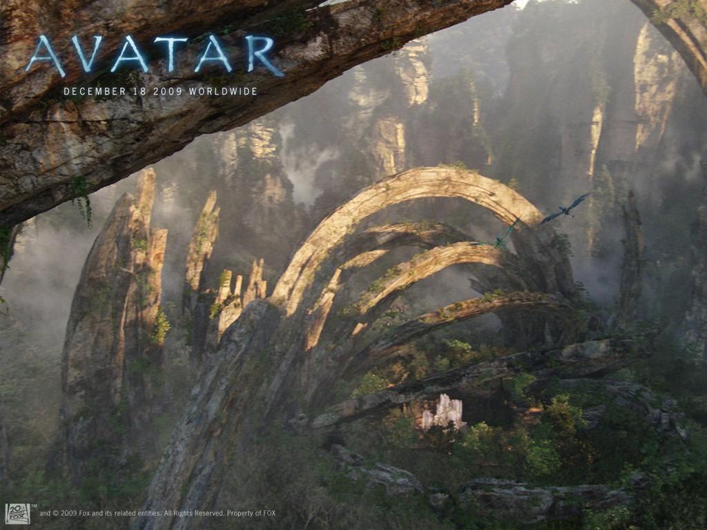 Un wallpaper del luogo sacro dei Na'vi