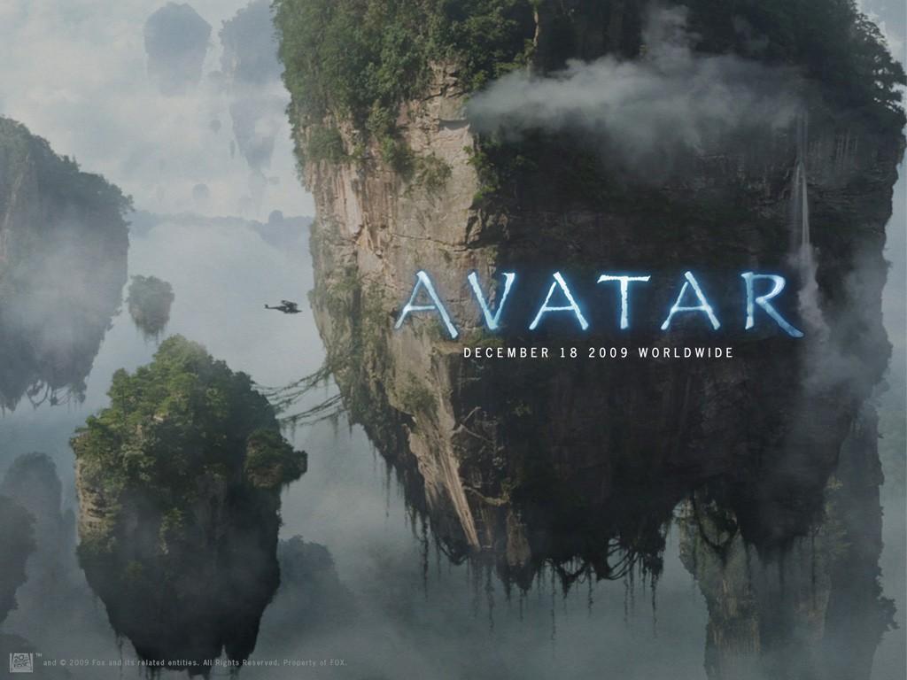 Un wallpaper ufficiale con le montagne fluttuanti di Pandora