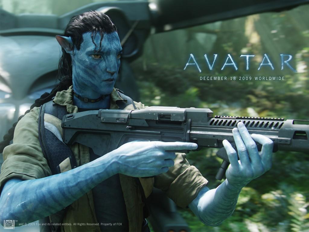 Un wallpaper ufficiale dell'Avatar di Jake Sully