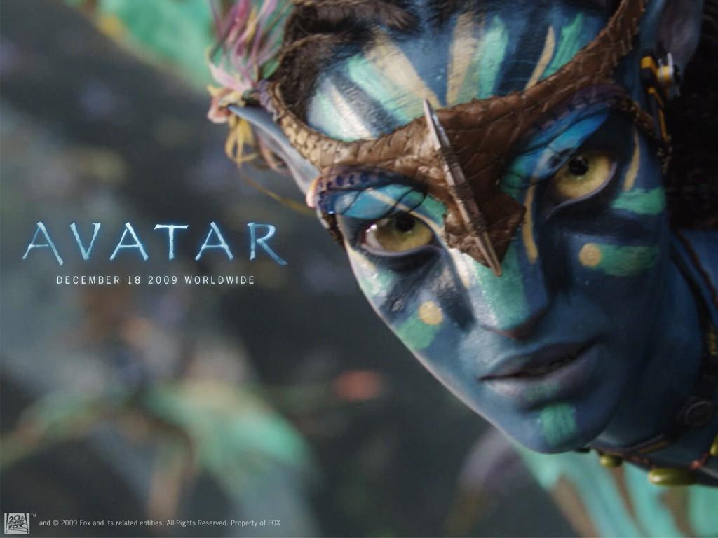Un wallpaper ufficiale di Neytiri per il film Avatar