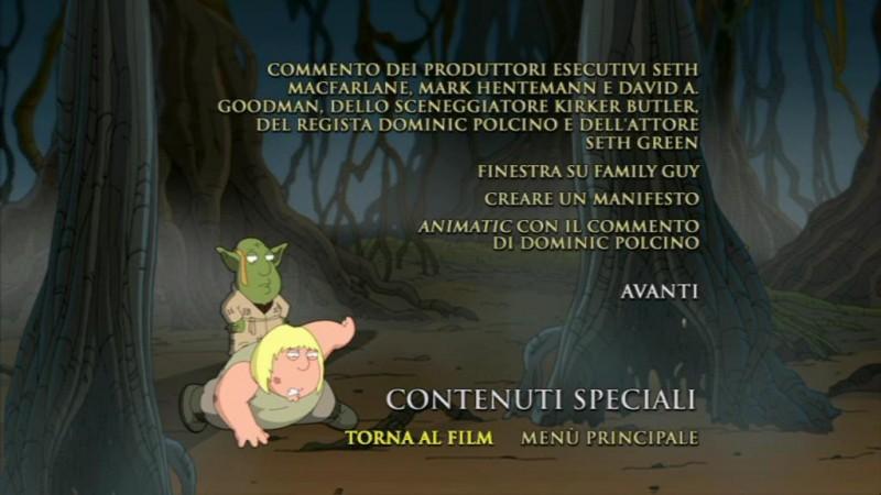 La schermata dei contenuti speciali del DVD Something Something Something Dark Side
