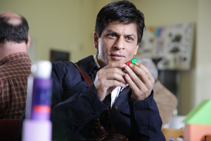 l'attore Shahrukh Khan nel film My Name Is Khan