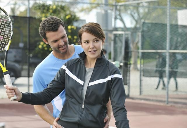 Cougar Town: Christa Miller in una scena dell'episodio All the Wrong Reasons