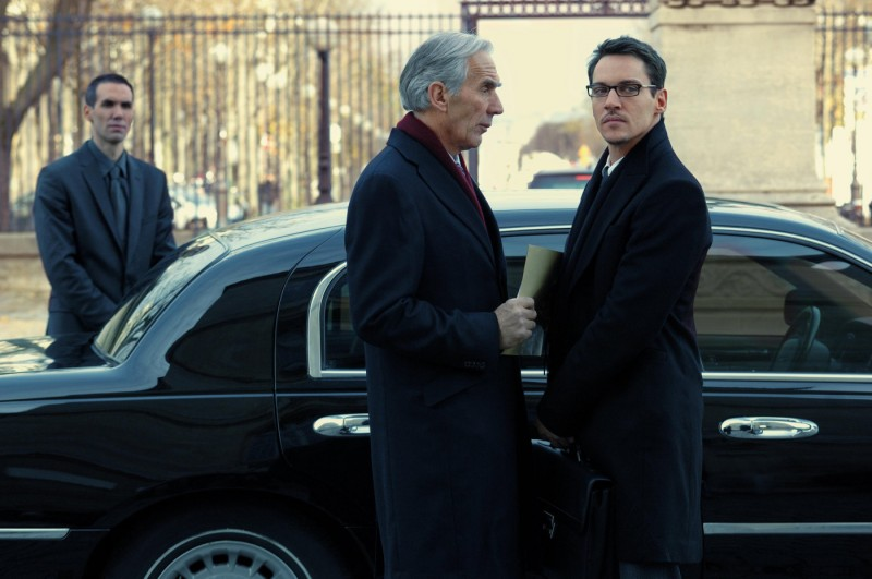 Richard Durden e Jonathan Rhys Meyers in una sequenza del film From Paris with Love