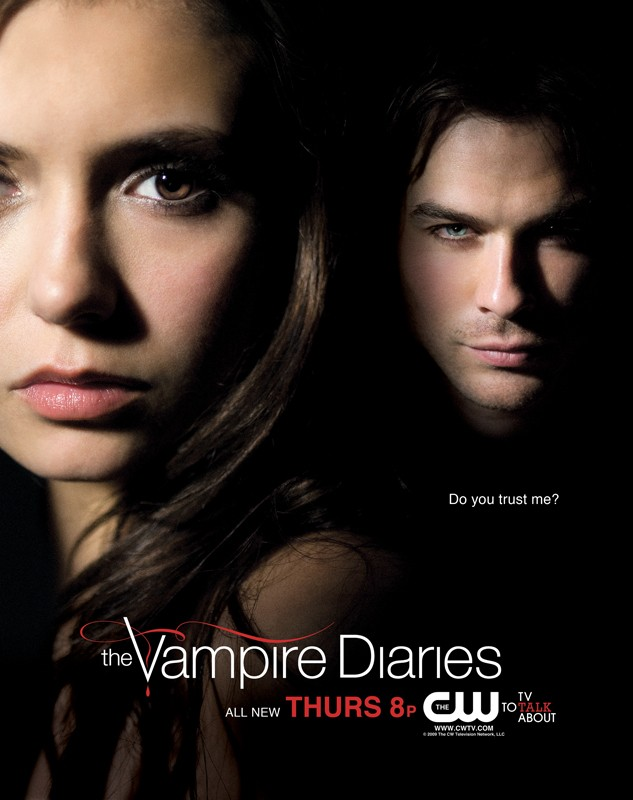 Un nuovo poster della CW per la prima stagione di Vampire Diaries con Nina Dobrev e Ian Somerhalder