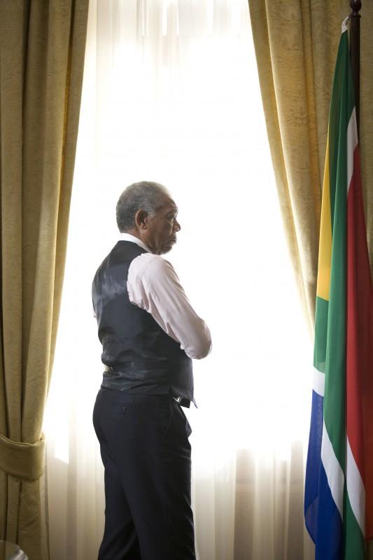 Morgan Freeman e i colori del Sudafrica in un'immagine del film Invictus