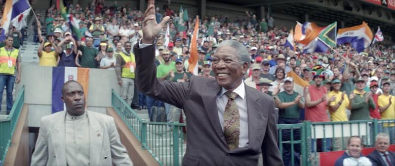 Morgan Freeman, protagonista del film Invictus
