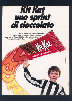 Il primo lavoro di Fabio Nova: testimonial per uno snack al cioccolato.