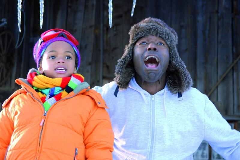 Il piccolo Ludovic François e Lucien Jean-Baptiste in una scena del film La première étoile