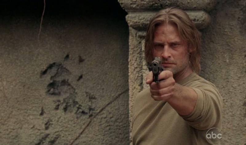 Josh Holloway in una scena di What Kate Does dalla sesta stagione di Lost