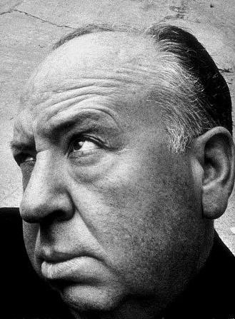 Un curioso ritratto di Alfred Hitchcock.