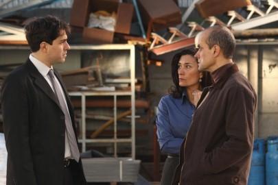 Eva Bianco, Marcelo D'Andrea e Santiago Gobernori in una scena del film The Counting of the Damages