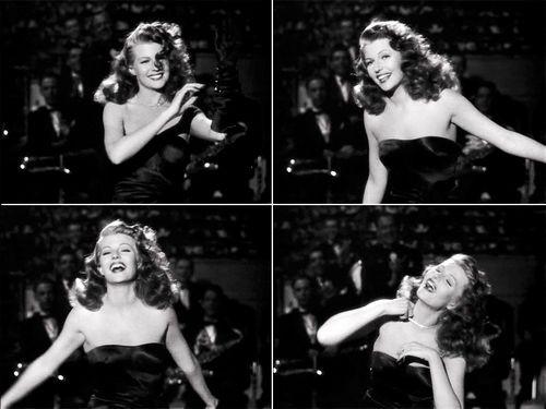 Rita Hayworth in una celebre sequenza di Gilda.