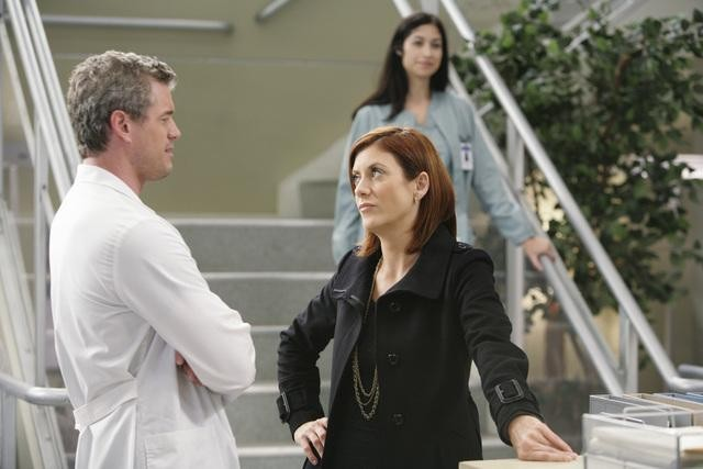 Eric Dane e Kate Walsh in una scena di Blink dalla sesta stagione di Grey's Anatomy