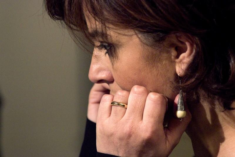 Laura Morante in un intenso primo piano tratto dal film Il figlio più piccolo