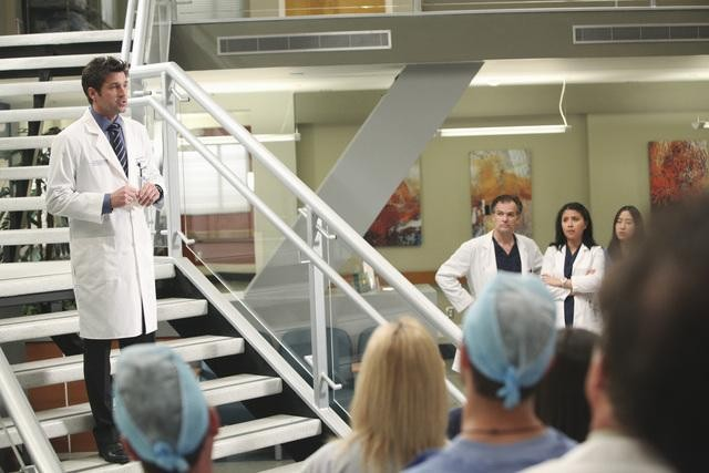 Patrick Dempsey in una scena di State of Love and Trust dalla sesta stagione di Grey's Anatomy