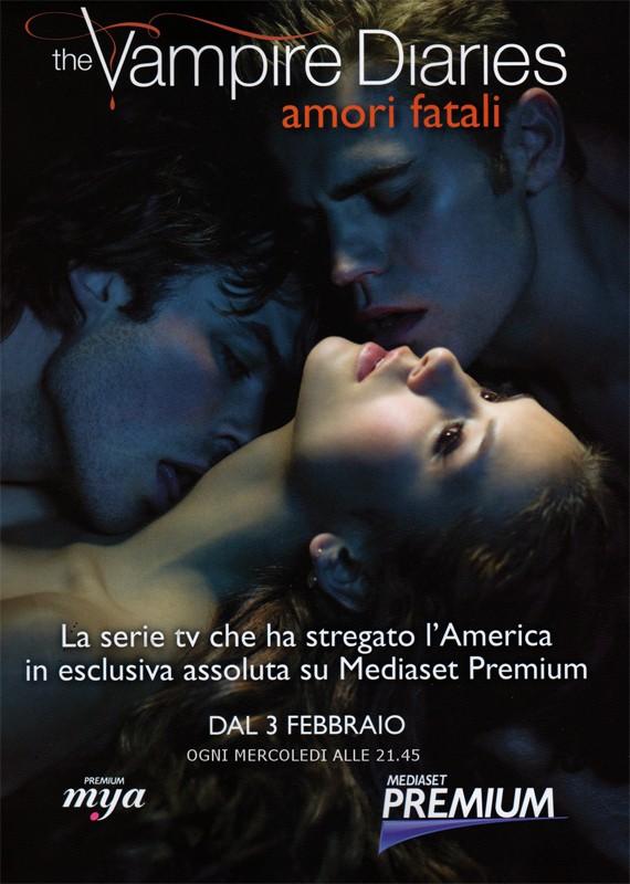 Un manifesto italiano per la nuova serie americana The Vampire Diaries