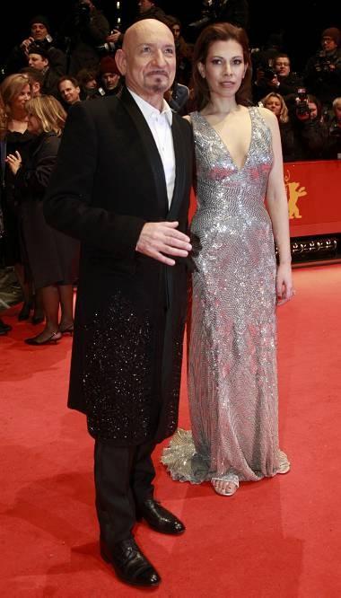 Berlinale 2010: Ben Kingsley , interprete di Shutter Island, con sua moglie Daniela Barbosa
