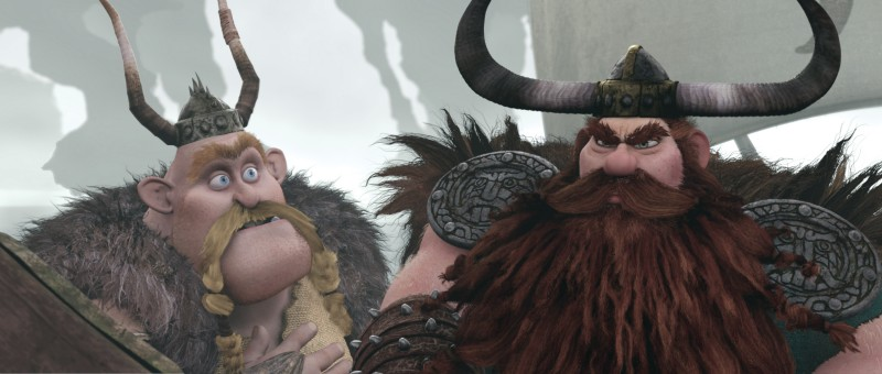 Due personaggi della tribù dei Vichinghi del film Dragon Trainer