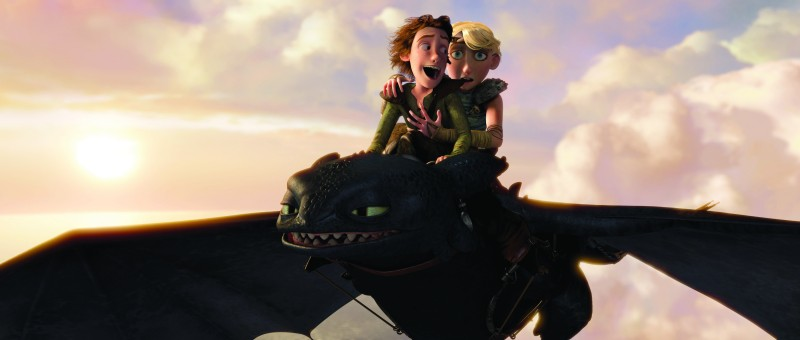 Hiccup e Astrid, protagonisti del film Dragon Trainer