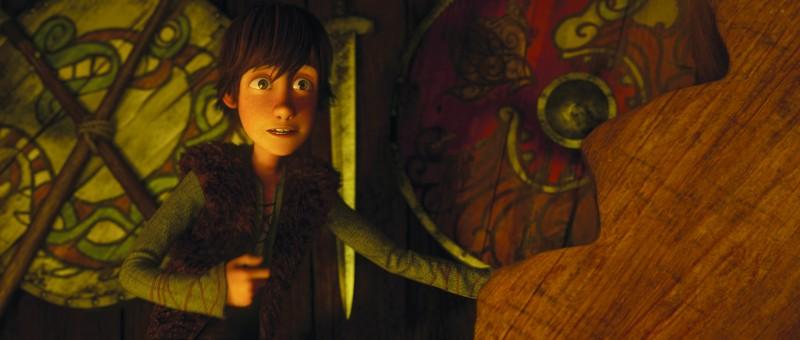 Il piccolo Hiccup, protagonista del film Dragon Trainer