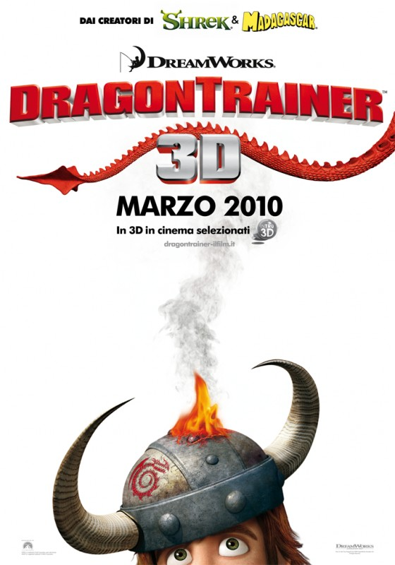 La locandina italiana di Dragon Trainer