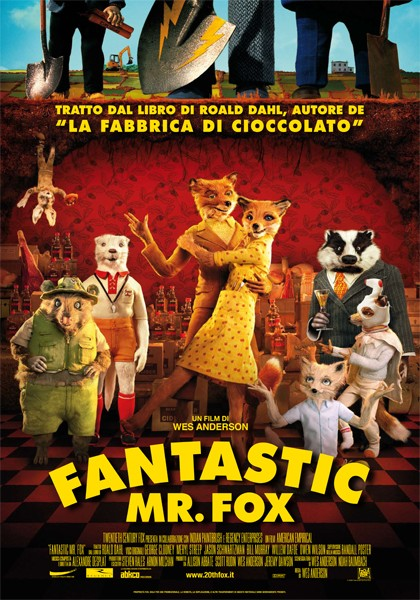 La locandina italiana di Fantastic Mr. Fox