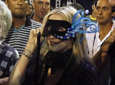 Madonna al Carnevale di Rio de Janeiro nel 2010.