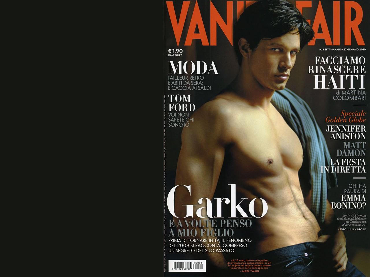 Wallpaper: Gabriel Garko su Vanity Fair