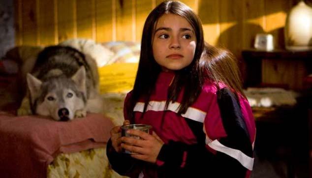 Ariel Gade e Buck in una scena del film Il richiamo della foresta 3D