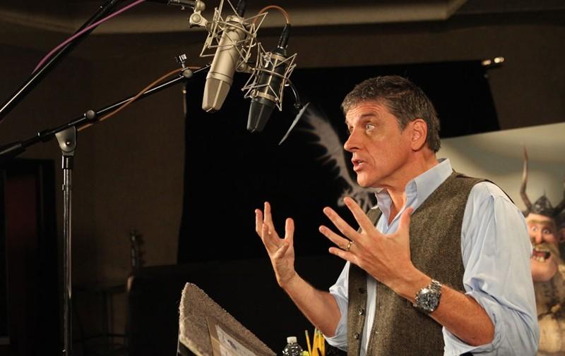 Craig Ferguson in una fase del doppiaggio del film Dragon Trainer