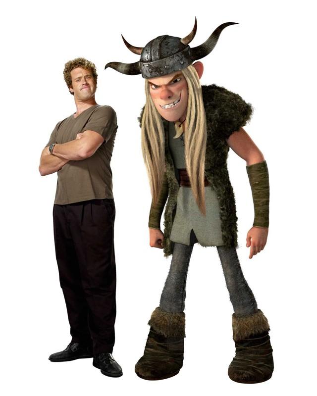 T.J. Miller e il suo personaggio Tuffnut in una foto promozionale del film Dragon Trainer