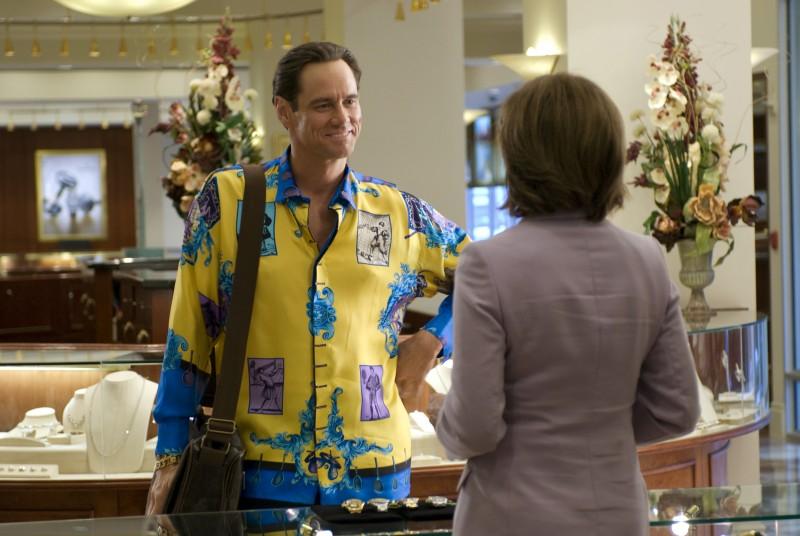 Jim Carrey in mise sgargiante nel film I Love You Phillip Morris