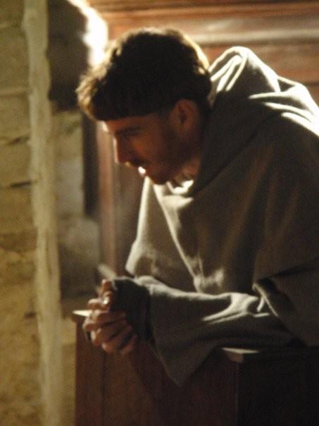 Adriano Braidotti sul set del film di Muraca su Duns Scoto