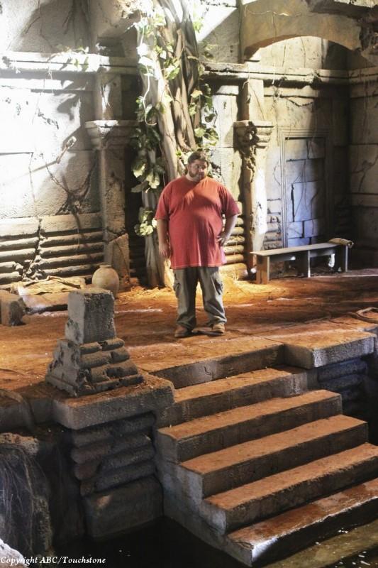 Jorge Garcia in una scena dell'episodio Lighthouse di Lost