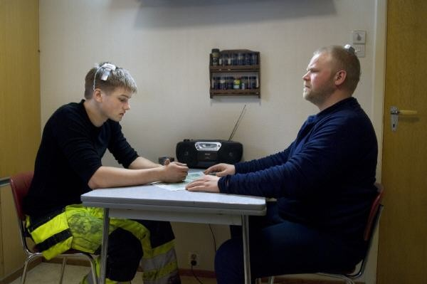 Mads Sjøgård Pettersen e Anders Baasmo Christiansen, protagonisti di Nord (2008)