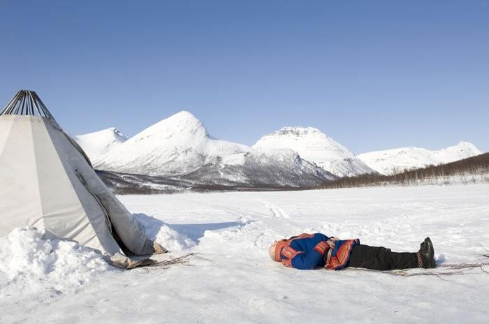 Un'immagine paesaggistica del film Nord di Rune Denstad Langlo